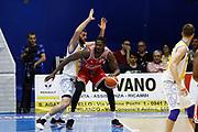 Landry Nnoko Antonio Iannuzzi<br />Betaland Capo D'Orlando - Consultinvest Pesaro<br />Lega Basket Serie A 2016/2017 <br />Capo D'Orlando 07/05/2017<br />Foto Ciamillo-Castoria
