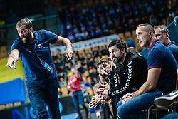 Veselin Vujovic head coach of RK PPD Zagreb during handball match between RK Celje Pivovarna Lasko (SLO) and RK PPD Zagreb (CRO) in 7th Round of EHF Champions League 2019/20, on November 10, 2019 in Arena Zlatorog, Celje, Slovenia. Photo Grega Valancic / Sportida
