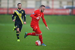 KIRKBY, ENGLAND - Tuesday, January 5, 2016: Liverpool's Ryan McLaughlin during the Under-21 Friendly match against Morecambe at the Kirkby Academy. (Pic by David Rawcliffe/Propaganda)