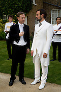 GEORDIE GREIG AND EVGENY LEBEDEV. Raisa Gorbachev Foundation Party, at the Stud House, Hampton Court Palace on June 7, 2008 in Richmond upon Thames, London,Event hosted by Geordie Greig and is in aid of the Raisa Gorbachev Foundation - an international fund fighting child cancer.  7 June 2008.  *** Local Caption *** -DO NOT ARCHIVE-© Copyright Photograph by Dafydd Jones. 248 Clapham Rd. London SW9 0PZ. Tel 0207 820 0771. www.dafjones.com.