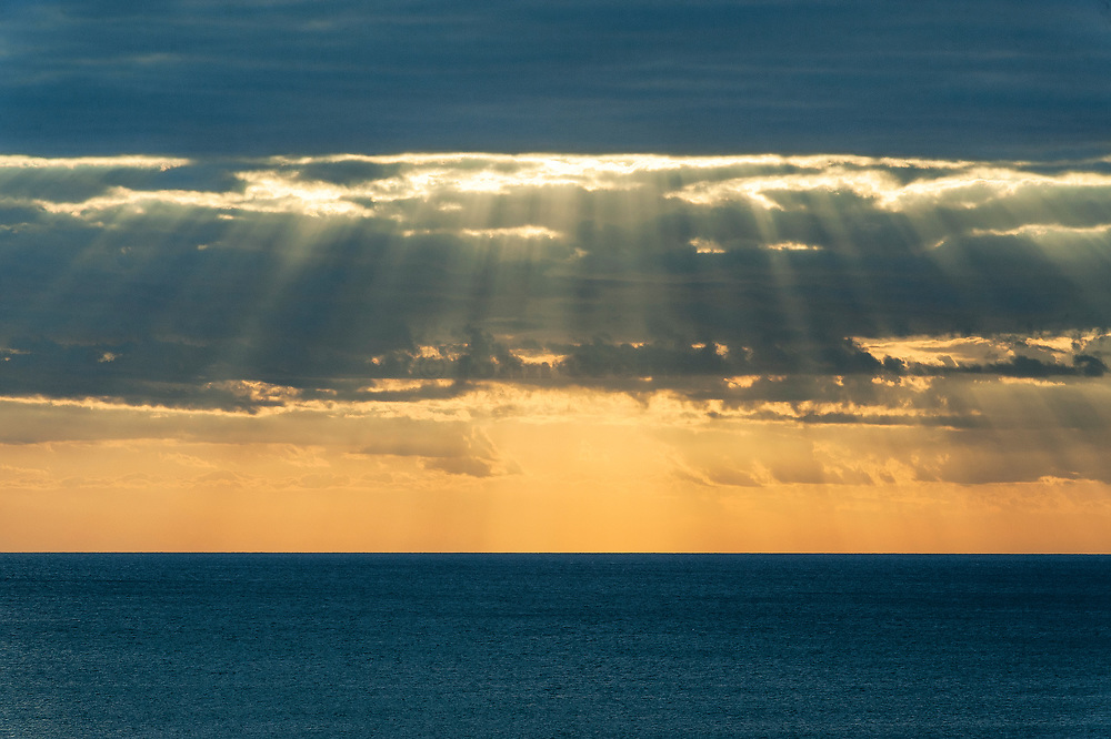 Sunrise over the ocean, Cape Cod, Massachusettes, USA.