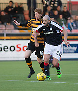Dundee&rsquo;s Gary Harkins and Alloa Athletic&rsquo;s Lewis Baker - Alloa Athletic v Dundee, pre-season friendly at Recreation Park, Alloa<br /> <br />  - &copy; David Young - www.davidyoungphoto.co.uk - email: davidyoungphoto@gmail.com