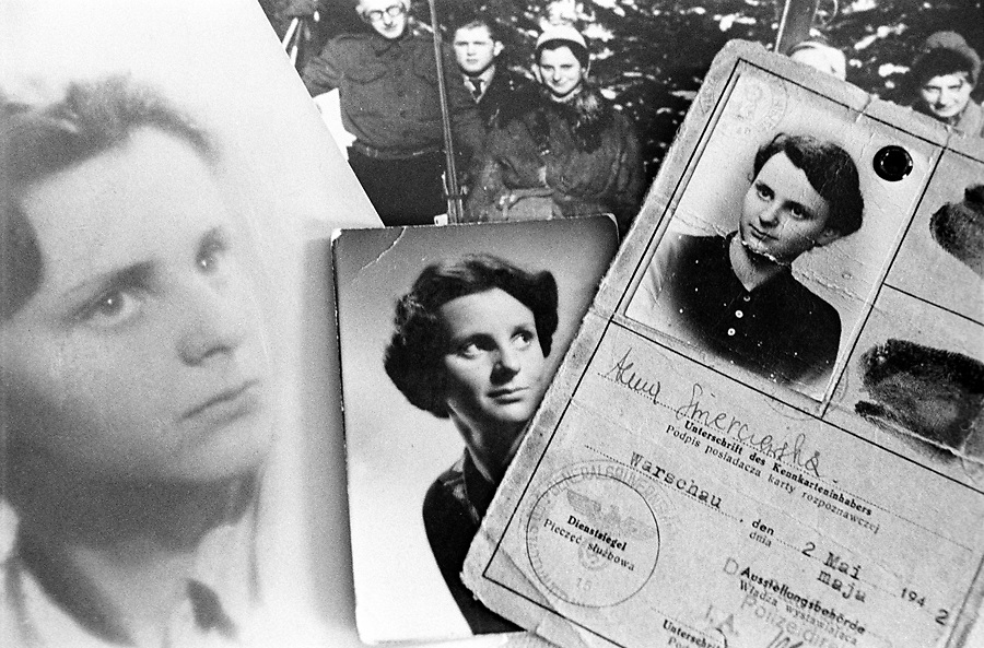 Old photos which belong to Veteran Anna Jakubowska. On the ID, dated May 1942, there is the infamous SS stamp that was used during the 5 year long Nazi occupation of Poland.