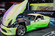 New York, NY - 1 April 2015. A custom Dodge Viper SRT 1 of 1 on display at the New York International Auto Show. This model is entirely customizable, and includes paint to the customer's specifications.