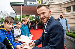 Dino Hotic during SPINS XI Nogometna Gala 2019 event when presented best football players of Prva liga Telekom Slovenije in season 2018/19, on May 19, 2019 in Slovene National Theatre Opera and Ballet Ljubljana, Slovenia. Photo by Vid Ponikvar / Sportida