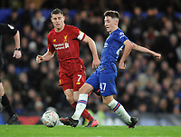Football - 2019 / 2020 Emirates FA Cup - Fifth Round: Chelsea vs. Liverpool<br /> <br /> Billy Gilmour of chelsea and James Milner at Stamford Bridge.<br /> <br /> COLORSPORT/ANDREW COWIE