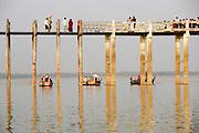Myanmar, Innwa (Ava) ancient city, U Bein bridge