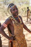 Portrait of a young Hadzabe (Hadza) man. Photogrphed at Lake Eyasi, Tanzania