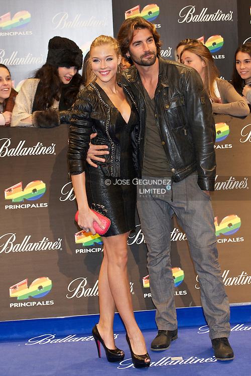 Patricia Montero and Alex Adrover attend '40 Principales Awards 2011' photocall at Palacio de los Deportes on December 9, 2011 in Madrid, Spain.