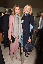 Left to right, Arizona Muse and Princess Lilly Zu Sayn-Wittgenstein at the Range Rover Velar Global Reveal at The Design Museum, London England. 1 March 2017.