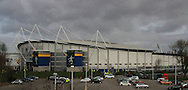 General views of the outside of the KC Stadium before KO during the Barclays Premier League match at the KC Stadium, Kingston upon Hull<br /> Picture by Richard Gould/Focus Images Ltd +44 7855 403186<br /> 15/03/2014