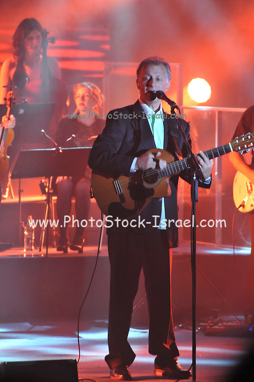 Matti Caspi an Israeli singer and songwriter during a joint performance with Riki Gal