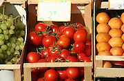 tomatoes for sale on display