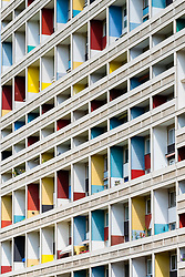 External view of Corbusierhaus modernist apartment building built as Unite d'Habitation in Berlin, Germany