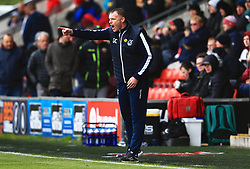 Bristol Rovers manager Graham Coughlan points - Mandatory by-line: Matt McNulty/JMP - 27/04/2019 - FOOTBALL - Highbury Stadium - Fleetwood, England - Fleetwood Town v Bristol Rovers - Sky Bet League One