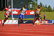 Heat 4 of the Men's 200m during the Muller British Athletics Championships at Alexander Stadium, Birmingham, United Kingdom on 25 August 2019.