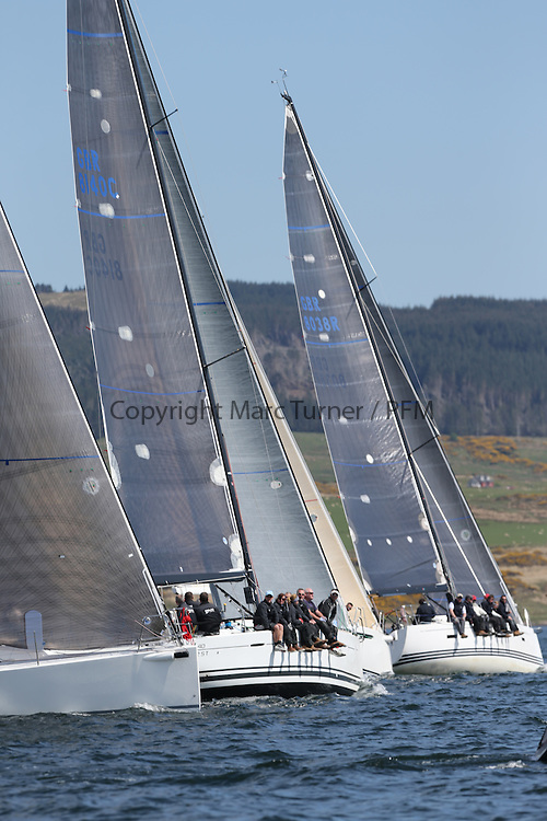 The Clyde Cruising Club's Scottish Series held on Loch Fyne by Tarbert. Day 2 racing in a perfect southerly<br /> <br /> GBR8140C ,Zephyr ,Steven Cowie ,CCC/FYC/RGYC ,First 40