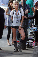SARAH HARDING AND CAST ON SET OF ST TRINIANS   SOUTH BANK MON 10 AUG High Quality Prints,please enquire via contact Page. Rights Managed Downloads available for Press and Media
