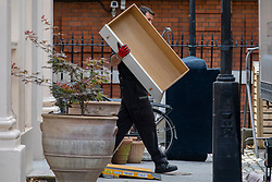 © Licensed to London News Pictures. 31/07/2018. London, UK. A draw is carried out of the official residence of the Foreign Secretary at Carlton Gardens in central London where former Foreign Secretary Boris Johnson has been living since his resignation. Photo credit: Rob Pinney/LNP
