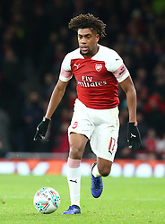 December 19, 2018 - London, England, United Kingdom - London, UK, 19 December, 2018.Alex Iwobi of Arsenal in action.during Carabao Cup Quarter - Final between Arsenal and Tottenham Hotspur  at Emirates stadium , London, England on 19 Dec 2018. (Credit Image: © Action Foto Sport/NurPhoto via ZUMA Press)