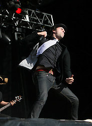 Paul Smith, of Maximo Park, on the NME stage, T in the Park, Sunday 8 July 2007..T in the Park festival took place on the 6th, 7th and 8 July 2007, at Balado, near Kinross in Perth and Kinross, Scotland. This was the first time the festival had been held over three days..Pic ©Michael Schofield. All Rights Reserved..