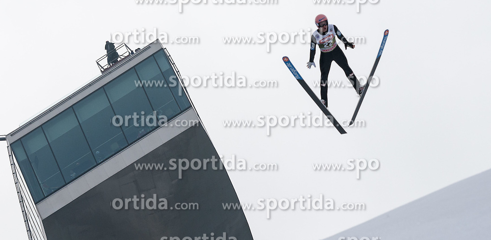 03.01.2015, Bergisel Schanze, Innsbruck, AUT, FIS Ski Sprung Weltcup, 63. Vierschanzentournee, Innsbruck, Training, im Bild Manuel Fettner (AUT) // Manuel Fettner of Austria soars through the air during a training session for the 63rd Four Hills Tournament of FIS Ski Jumping World Cup at the Bergisel Schanze in Innsbruck, Austria on 2015/01/03. EXPA Pictures © 2015, PhotoCredit: EXPA/ Jakob Gruber
