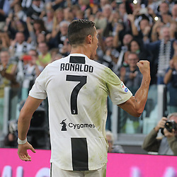 October 20, 2018 - Turin, Turin, Italy - Cristiano Ronaldo #7 of Juventus FC celebrates after scoring the his goal during the serie A match between Juventus FC and Genoa CFC at Allianz Stadium on October 20, 2018 in Turin, Italy. (Credit Image: © Giuseppe Cottini/NurPhoto via ZUMA Press)