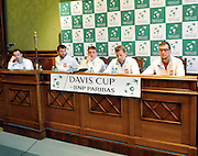 Wroclaw 31/01/2013.Davis Cup .Poland vs Slovenia.Press conference of Polish team..Photo by : Piotr Hawalej