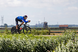 GANNA Filippo from ITALY during Men Elite Time Trial at 2019 UEC European Road Championships, Alkmaar, The Netherlands, 8 August 2019. <br /> <br /> Photo by Thomas van Bracht / PelotonPhotos.com <br /> <br /> All photos usage must carry mandatory copyright credit (Peloton Photos | Thomas van Bracht)