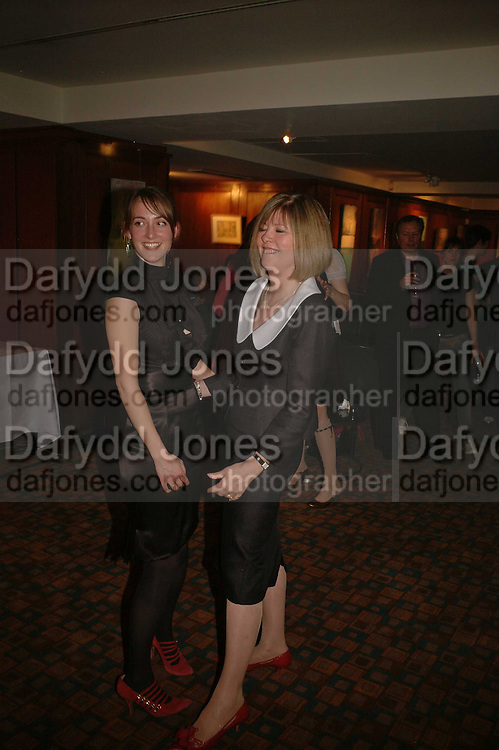 POPPY DE VILLENEUVE AND LADY CHRISSIE BLAKE, Sir Peter Blake and Poppy De Villeneuve host a party with University of the Arts London at the Arts Club, Dover Street, London. 20 APRIL 2006<br />ONE TIME USE ONLY - DO NOT ARCHIVE  © Copyright Photograph by Dafydd Jones 66 Stockwell Park Rd. London SW9 0DA Tel 020 7733 0108 www.dafjones.com