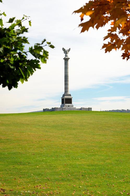 New York Memorial, Antietam National Battlefield, Sharpsburg, Maryland, USA.
