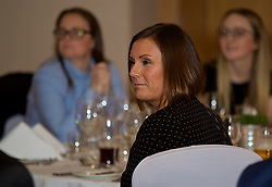 NEWPORT, WALES - Wednesday, December 12, 2018: Caroline Spanton during the UEFA Certificate of Football Management Graduation Ceremony in the 2010 Clubhouse at the Celtic Manor Resort. (Pic by David Rawcliffe/Propaganda)