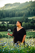 Portrait of wine educator Chevonne Ball