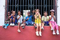 Cuba - Province de Camaguey - Camaguey - Plaza San Juan de Dios. Ecole maternelle. // Cuba, Region of Camaguey, Camaguey, San Juan de Dios Square, Primary school