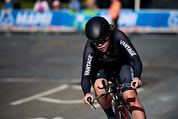 Ella Wyllie (NZL) at UCI Road World Championships 2019 Junior Women's TT a 13.7 km individual time trial in Harrogate, United Kingdom on September 23, 2019. Photo by Sean Robinson/velofocus.com