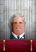 """These royal portraits created by the finger artist DITO VON TEASE<br />known as """"il Dito"""", thatÕs Italian for Òthe FingerÓ. a funny invitation to people to be curious about the complex mystery of personal identities ...  <br /><br />Photo shows: Prince Charles<br />©Exclusivepix Media"""