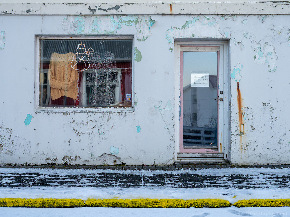 A cloting store in Vestmannaeyjar islands, Iceland.