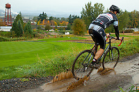 CycloCross racer in the mud in Portland at Edgefield.