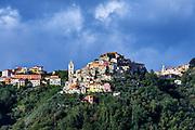 Charming hilltop village, Liguria, Italy.