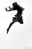 Black and white dance photography- Arch- featuring Dance As Art dancer Jarrett Rashad