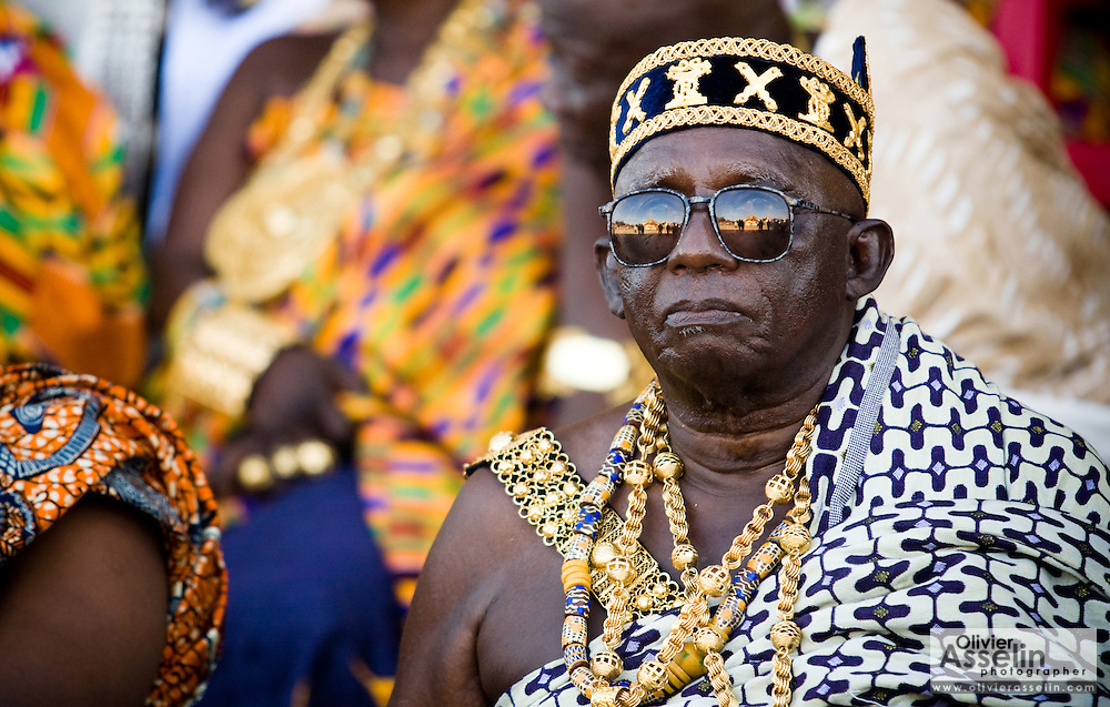 Chief Nana Kojo Abaka IV sits among other chiefs during the annual Oguaa Fetu Afahye Festival in Cape Coast, Ghana on Saturday September 6, 2008.