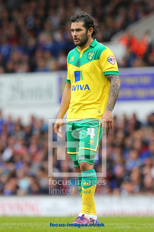 Bradley Johnson of Norwich City during the Sky Bet Championship play off semi final first leg at Portman Road, Ipswich<br /> Picture by Richard Calver/Focus Images Ltd +44 7792 981244<br /> 09/05/2015