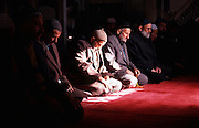 Turkey, Istanbul Moslem men praying in a mosque