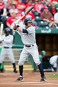 Brett Eibner (24) of the Northwest Arkansas Naturals stands at bat during a game against the Springfield Cardinals at Hammons Field on July 28, 2013 in Springfield, Missouri. (David Welker)