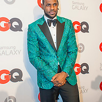 Lebron James posing at the GQ & Lebron James NBA All Star Style party sponsored by Samsung Galaxy on Saturday, February 15, 2014, at the Ogden Museum of Southern Art in New Orleans, Louisiana with live jam session from grammy Award-winning Artist The Roots. Photo Credit: Gustavo Escanelle / Retna Ltd.