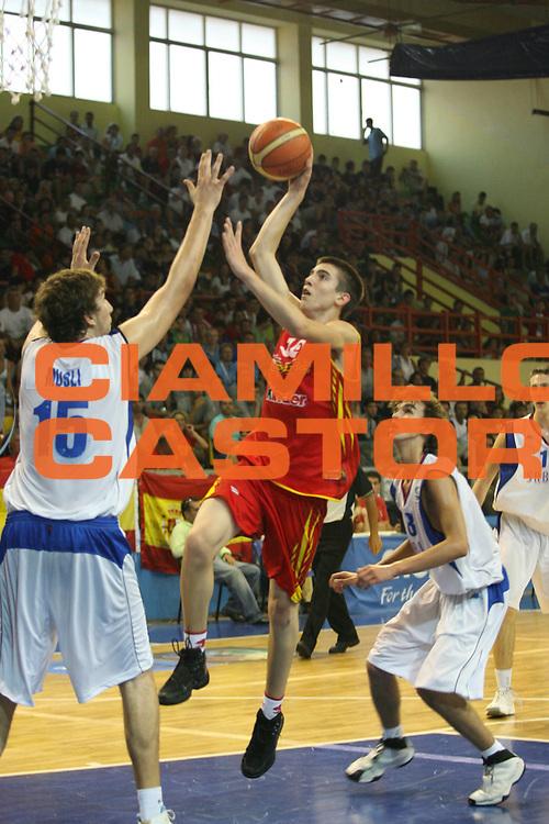DESCRIZIONE : Rethimnon Crete Termosteps U16 European Championship Men Final Serbia Spain<br /> GIOCATORE : Franch De Pablo<br /> SQUADRA : Spain Spagna<br /> EVENTO : Rethimnon Crete Termosteps U16 European Championship Men Creta Europeo U16 Uomini <br /> GARA : Serbia Spain Serbia Spagna<br /> DATA : 29/07/2007 <br /> CATEGORIA : Tiro<br /> SPORT : Pallacanestro <br /> AUTORE : Agenzia Ciamillo-Castoria/M.Marchi <br /> Galleria : Europeo Under 16 <br /> Fotonotizia : Rethimnon Crete Termosteps U16 European Championship Men Final Serbia Spain<br /> Predefinita :