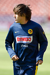 August 3, 2010; San Francisco, CA, USA;  Club America midfielder Jose Joaquin Martinez (23) practices at Candlestick Park a day before their match with Real Madrid.