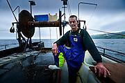 Commercial fisherman Barry Milman, aka Baldric, on the trawler Ana.