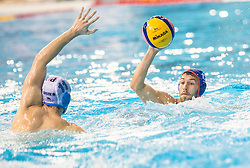 Andzelo Setka of Primorje vs Aggelos Vlachopoulos of Olympiacos during water polo match between Primorje Erste Bank (CRO) and Olympiacos Piraeus (GRE) in 8th Round of Champions League 2016, on April 16, 2016 in Kantrida pool, Rijeka, Croatia. Photo by Vid Ponikvar / Sportida