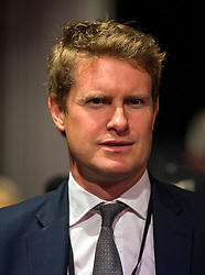 © Licensed to London News Pictures. 12/09/2015. London, UK. TRISTRAM HUNT MP, who has resigned from shadow cabinet, announcement of the new leader of the Labour Party at the QEII centre in Westminster, London on September 12, 2015. Former leader ED Miliband resigned after a heavy defeat at the last election. Photo credit: Ben Cawthra/LNP